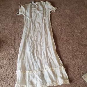 Vintage Johnny Was Linen Dress Size Small